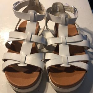 Size 4 girls white sandals
